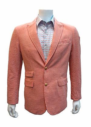 Cigar Couture seersucker pink slim fit blazer