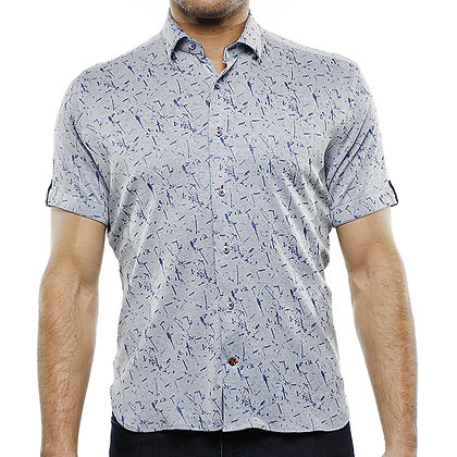 Luchiano Visconti Blue Short Sleeve knit shirt