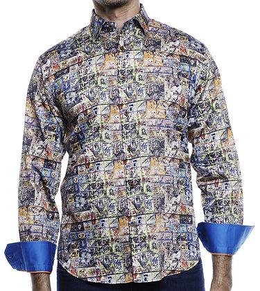Luchiano Visconti (4161 - Brown Limited Edition) Mens Button down shirt
