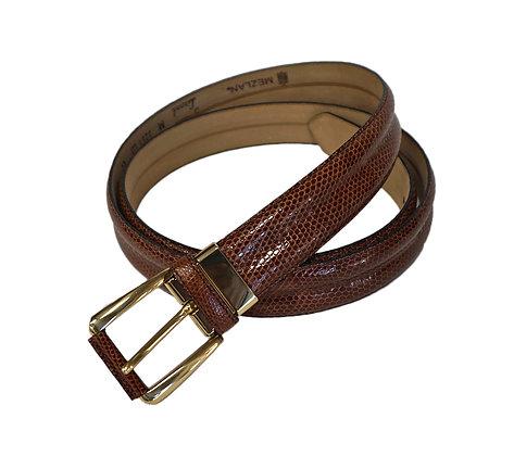 "Mezlan Men's Belt ""Tan"" Genuine Lizard"