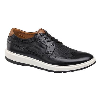 Johnston Murphy Men's Elliston Black Soft Bottom Wingtip Shoe