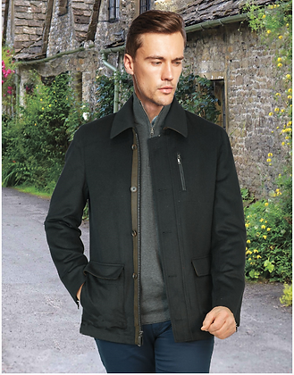 Men's Enzo Black wool jacket