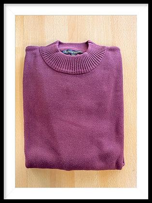 Vanessa Terrano Burgundy Mockneck Sweater