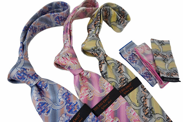 """Steven Land Silk tie and Hanky """"The Big Knot"""""""