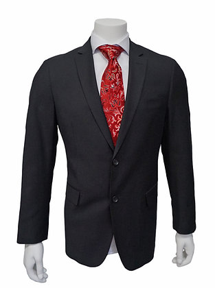 Bertolini Black Silk and wool Black Slim Fit suit for men