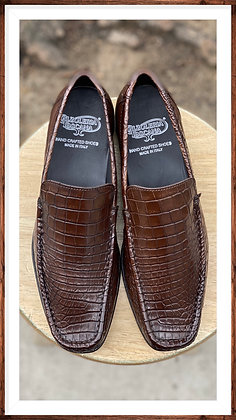"""Mens Brown Exotic Skin Italian Loafer by Calzoleria Toscana """"2817"""""""