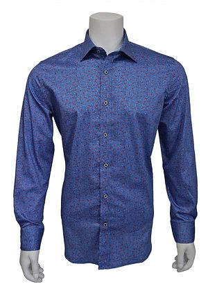 "Brandolini (BRA-1223) ""Blue"" Men's Shirt with contrast detailing"