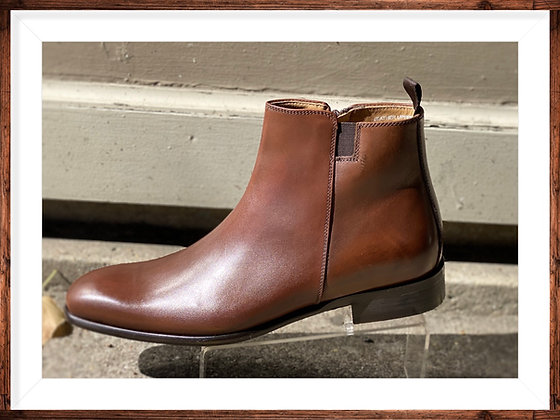 Italian Side Zip Boot by Calzoleria Toscana (Moka | 3003)