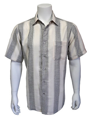 "Bassiri ""Gray"" Short Sleeve Summer Shirt"