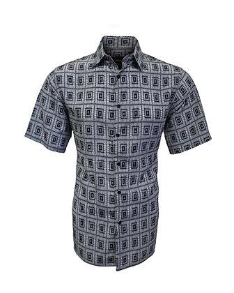 Black & White Casual Summer Men's Shirt by Bassiri (63151)