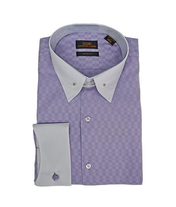 Steven Land (Purple) Dress Shirt with French Cuff