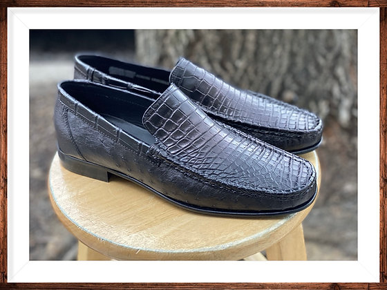 "Mens Black Hand Crafted Italian Loafer Shoe by Calzoleria Toscana ""2817"""