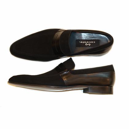 Corrente (Black) Suede & Leather Loafer