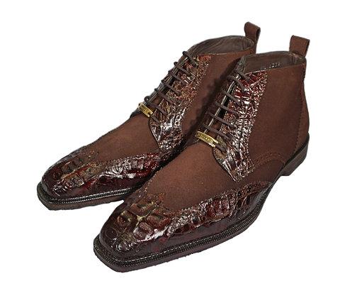 "Belvedere Brown Caiman Boot ""Modena"""