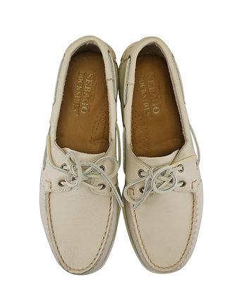 """Sebago """"Dockside"""" Men's Ivory Boat Shoes"""