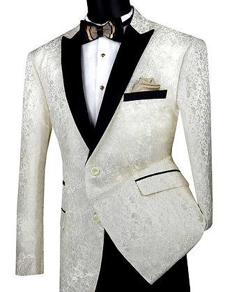 Vinci BF-2 Ivory Tuxedo Jacket