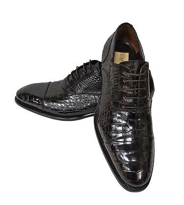 Caporicci (Brown) Baby Alligator Cap Toe, Italian shoe