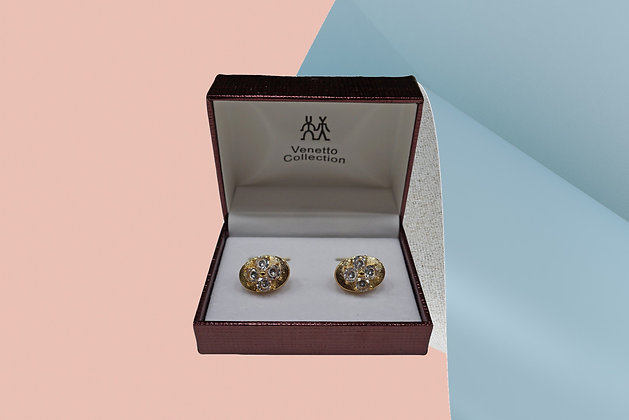 Venetto Collection Oval Shaped Cuff link