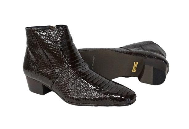 Giorgio Brutini (Tuscon) Brown Ankle Boot, Snakeskin