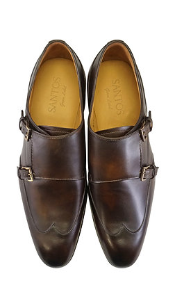Carlos Santos green label Brown double Monk Dress Shoes for men