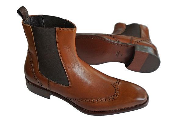 """Toscana Mahogany """"Gallipoli"""" Chelsea Style Wingtip Boot"""