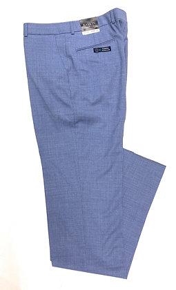 Ballin wool flat front blue trousers for men