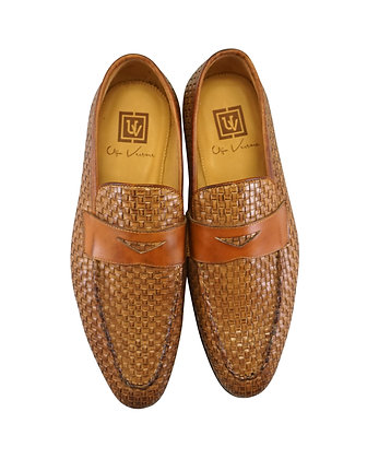Ugo Vasare Brown Woven loafers