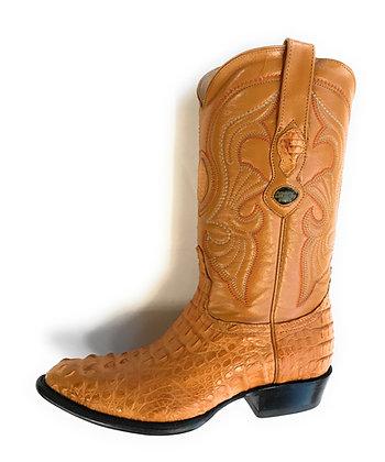 "Los Altos Caiman ""Buttercup"" Hornback Western style boot"
