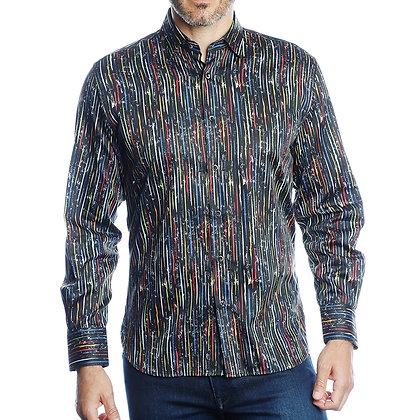 Luchiano Visconti Shirt 43194 Black