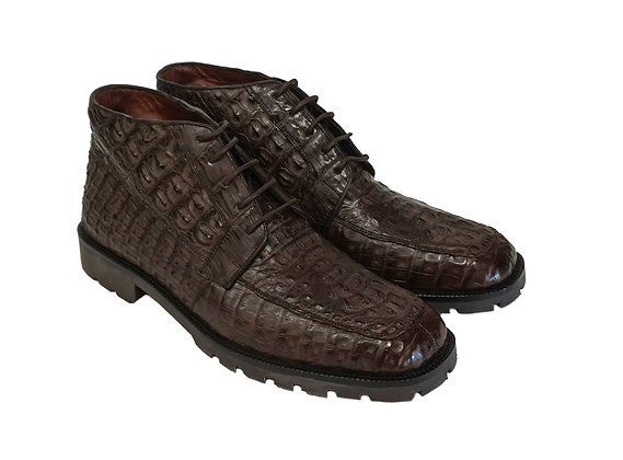 Los Altos Hornback Caiman Boot Brown