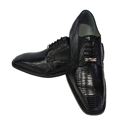 Belvedere (Olivo) Mens Black Genuine Lizard Shoes