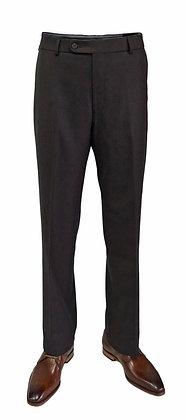 Ballin Brown Birdseye Regular Fit Flat Front Dress Pants