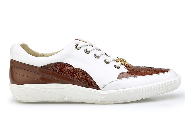 """Belvedere Sneaker """"Irvin"""" White Brown"""