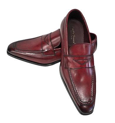 Emilio Franco Red Italian Penny Loafers