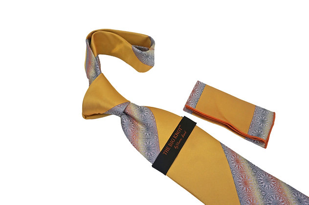 Steven Land (Gold) Tie and Hanky Set