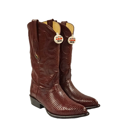 Los Altos Burgundy Ring Lizard Cowboy Boot