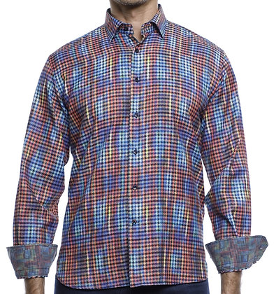 Luchiano Visconti (4182 - Multi) Mens Button down shirt