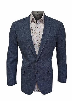 Mantoni Blue Virgin Wool Blazer