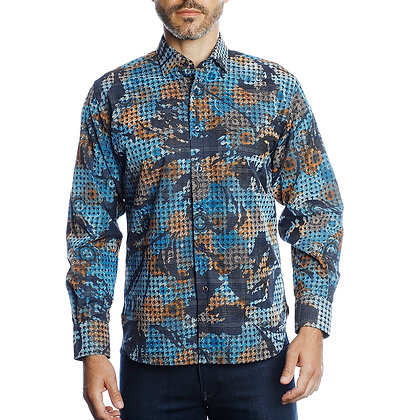 Luchiano Visconti Shirt 4390 Houndstooth