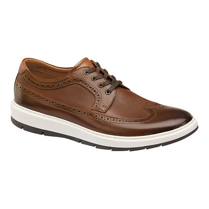 Johnston Murphy Men's Elliston Cognac Soft Bottom Wingtip Shoe