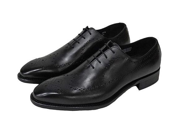 Calzoleria Toscana Black Italian Wingtip shoe