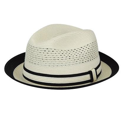 "Country Gentlemen white black summer hat ""Noah"""