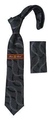 Steven Land (W226) Silk Tie and Hanky Set