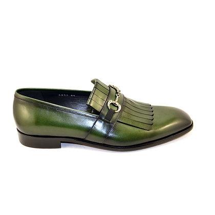 Corrente (Green) Kilted bit loafer