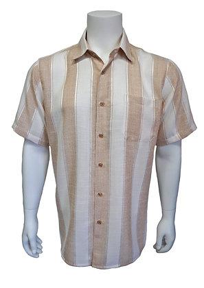 "Bassiri ""Brown"" Short Sleeve Summer Shirt"