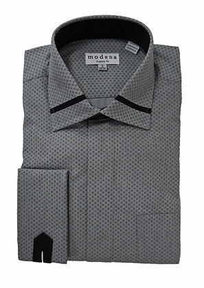Modena Gray French Cuff Dress Shirt