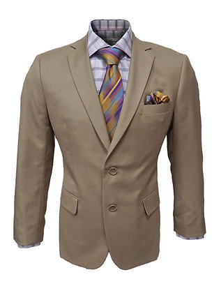 "Vincenzi ""Camel"" 100% Wool Suit, Two Button, Single Breasted"
