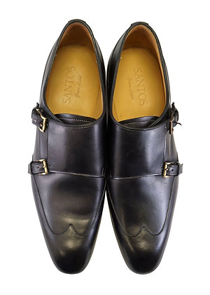 Carlos Santos green label Black Shadow double Monk Men's Shoe