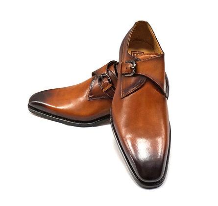 """Ugo Vasares Single Monk,  """"Camel"""", Goodyear Welt Shoes"""