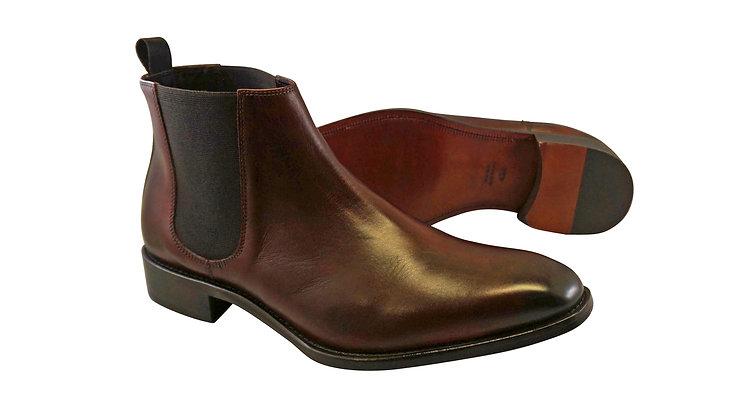 Calzoleria Toscana Chelsea Italian Burgundy Boot